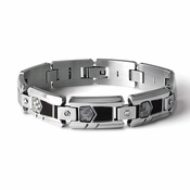 Tonino Lamborghini Imprinting Collection Stainless Steel and Carbon Fiber Bracelet