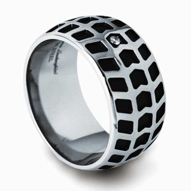 Tonino Lamborghini Impronta Collection Stainless Steel Ring