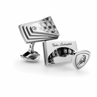 Tonino Lamborghini Motore Collection Stainless Steel Cufflinks