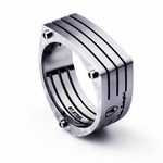 Tonino Lamborghini Motore Collection Stainless Steel Ring