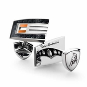 Tonino Lamborghini Orange Corsa Collection Stainless Steel Cufflinks