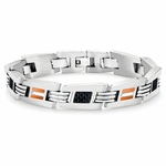 Tonino Lamborghini Orange Corsa Collection Stainless Steel Men's Bracelet