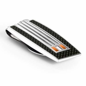 Tonino Lamborghini Orange Corsa Collection Stainless Steel Money Clip