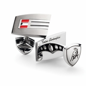 Tonino Lamborghini Red Corsa Collection Stainless Steel Cufflinks