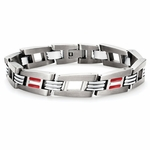 Tonino Lamborghini Red Corsa Collection Stainless Steel Men's Bracelet