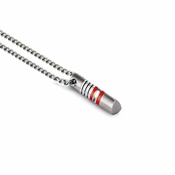 Tonino Lamborghini Red Corsa Pendant with Stainless Steel Rolo Chain