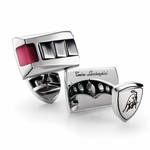 Tonino Lamborghini Red IL Primo Stainless Steel Cufflinks