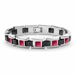 Tonino Lamborghini Red IL Primo Stainless Steel Men's Bracelet