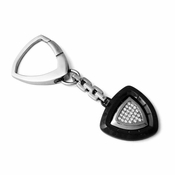 Tonino Lamborghini Spyder Collection Black Stainless Steel Key Ring