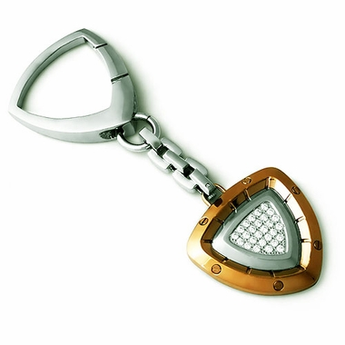 Tonino Lamborghini Spyder Collection Copper-toned Stainless Steel Key Ring