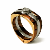 Tonino Lamborghini Spyder Collection Copper-Toned Stainless Steel Ring