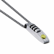 Tonino Lamborghini Strada Pendant with Stainless Steel Box Chain
