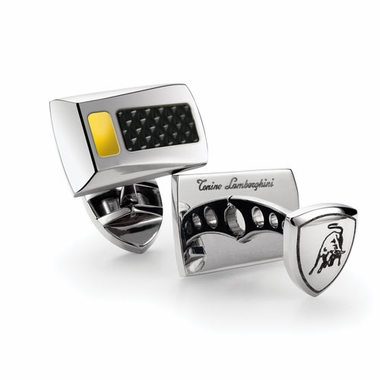 Tonino Lamborghini Yellow IL Primo Stainless Steel Cufflinks