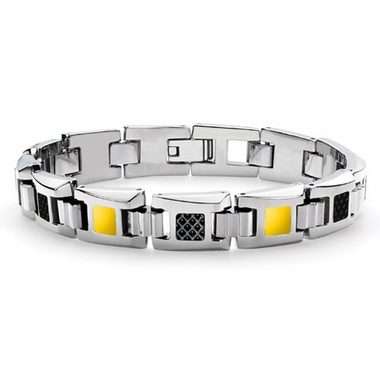 Tonino Lamborghini Yellow IL Primo Stainless Steel Men's Bracelet