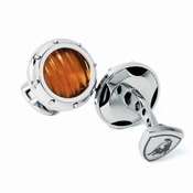 Tonino Lamborghini Yellow Luce Collection Stainless Steel Cufflinks