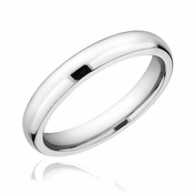 Triton 4mm Domed White Tungsten Carbide Ring