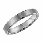 Triton 4mm Dual Finish Tungsten Carbide Ring with Beveled Edges