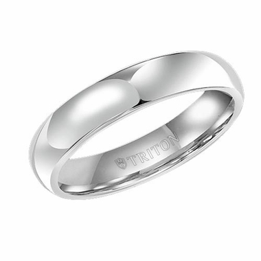 Triton 5mm Domed White Tungsten Carbide Ring