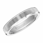 Triton 5mm Dual Finish White Tungsten Carbide Ring