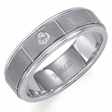 Triton 6.5mm Slotted Tungsten Carbide Diamond Ring