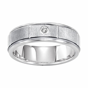 Triton 6.5mm Slotted White Tungsten Carbide Diamond Ring