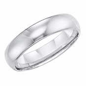 Triton 6mm Dome Profile White Tungsten Carbide Ring