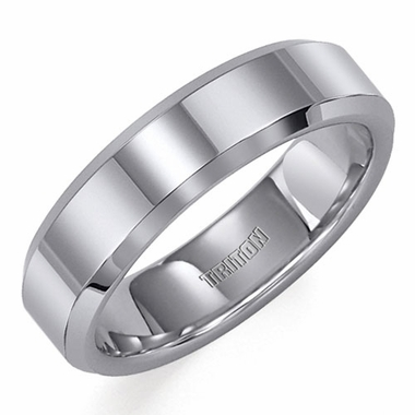 Triton 6mm Tungsten Carbide Ring with Beveled Edges