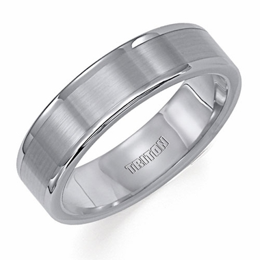 Triton 6mm Tungsten Carbide Ring with Polished Edges