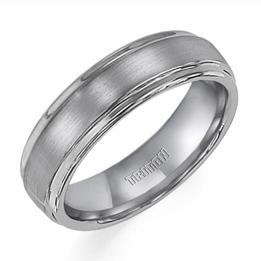 Triton 6mm Tungsten Carbide Ring with Step Edges