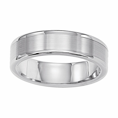 Triton 6mm White Tungsten Carbide Ring