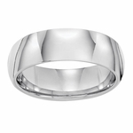 Triton 7mm Dome Profile White Tungsten Carbide Ring