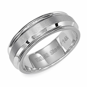 Triton 7mm Dual Finish Stainless Steel Ring