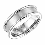Triton 7mm Dual Finish White Tungsten Carbide Ring