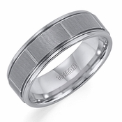 Triton 7mm Slotted Tungsten Carbide Ring with Polished Edges