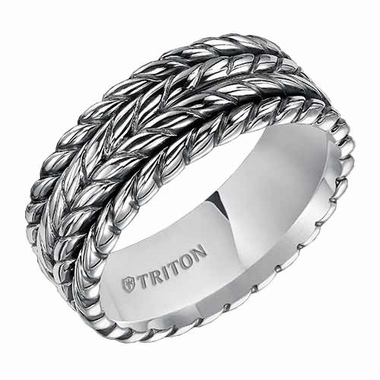 Triton 7mm Sterling Silver Ring with Multi Rope Design