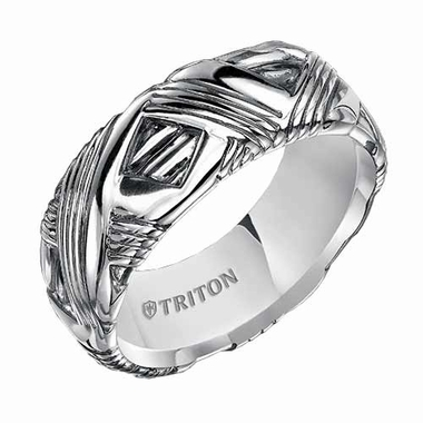 Triton 7mm Sterling Silver Ring with Wrap Design