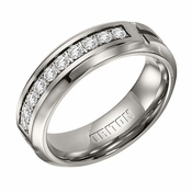 Triton 7mm Titanium Diamonds Ring