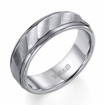 Triton 7mm Tungsten Carbide Ring with Brushed Waves