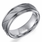 Triton 7mm Tungsten Carbide Ring with Diagonal Slots