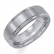 Triton 7mm Tungsten Carbide Ring with Step Edges