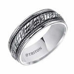Triton 7mm Woven Sterling Silver Ring with Milgrain