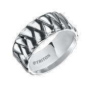 Triton 10mm Woven Sterling Silver Wedding Band