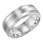 Triton 8mm Cobalt Wedding Band with Step Edges