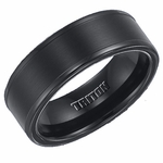 Triton 8mm Dual Finish Black Tungsten Carbide Ring