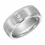 Triton 8mm Dual Finish Cobalt Diamond Ring