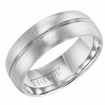 Triton 8mm Dual Finish Cobalt Ring with Polished Center Trim