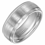 Triton 8mm Dual Finish Cobalt Ring with Step Edge