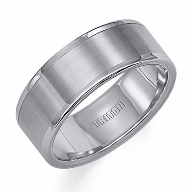 Triton 8mm Dual Finish Tungsten Carbide Ring