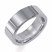 Triton 8mm Flat Tungsten Carbide Ring