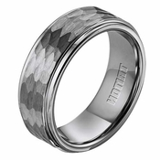 Triton 8mm Hammered Tungsten Carbide Ring
